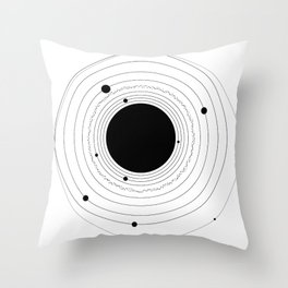 The Solar System (with Pluto) Throw Pillow