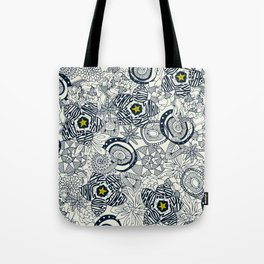 succulents ivory chartreuse star Tote Bag