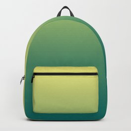 Yellow Lime Quetzal Green Ombre Gradient Pattern Backpack