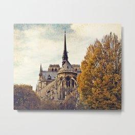 Automne a Notre-Dame Paris France Metal Print