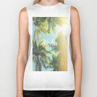 aloha Biker Tanks featuring AloHa by ''CVogiatzi.
