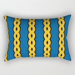 Gold Chain Curtain Rectangular Pillow