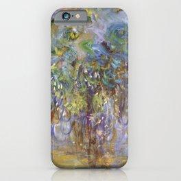 """Claude Monet """"Wisteria"""", 1919-1920 iPhone Case"""