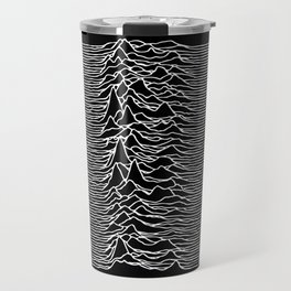 Distorted waves Travel Mug