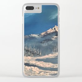 Ice Fields - winter day Clear iPhone Case