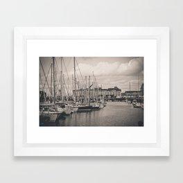 Casino at the harbor Framed Art Print