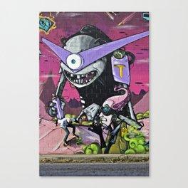 Graffiti Wallride Canvas Print