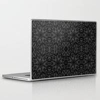 gray pattern Laptop & iPad Skins featuring Slate Gray Black Pattern by 2sweet4words Designs
