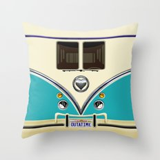 Blue teal minibus lovebug iPhone 4 4s 5 5c 6 7, pillow case, mugs and tshirt Throw Pillow