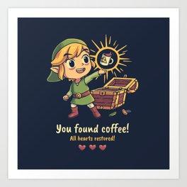 The Legendary Coffee Art Print