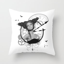 Angel of Small Deaths Throw Pillow