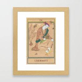 Tarot Card-The Hermit-L'Hermite Framed Art Print