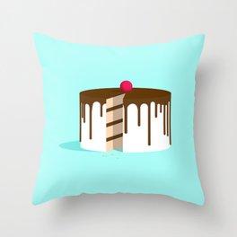 Cut Drip Cake Throw Pillow