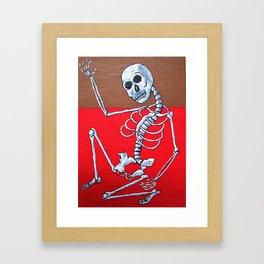 Skelton Dance Framed Art Print