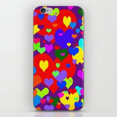 Mille coeurs gais iPhone & iPod Skin