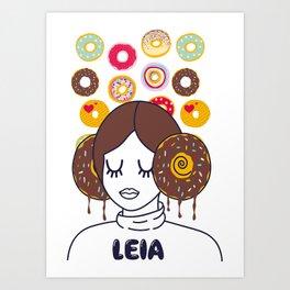 Princess Donut Leia Art Print