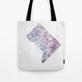 District of Columbia map 2 Tote Bag