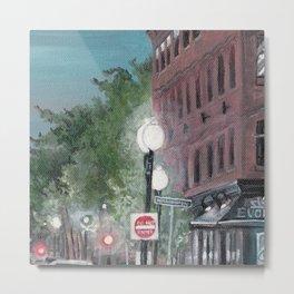 Old Building Street Lights Massachusetts Metal Print