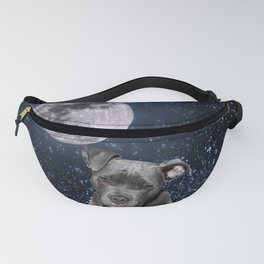 Pitbull Terrier and Moon Fanny Pack