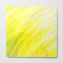 Tidal 4 Happy, Sunny Yellow with Green - Abstract Art Series Metal Print