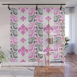 Fluer de Lis Custom Pink Wall Mural