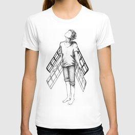 boy draws wings mk-II T-shirt