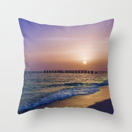 Gasparilla Island Sunset Throw Pillow