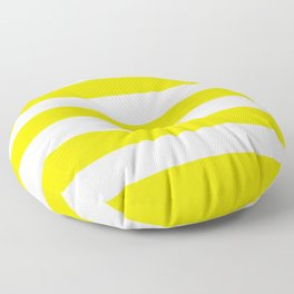 Peridot - solid color - white stripes pattern Floor Pillow