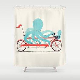 My Red Bike Shower Curtain
