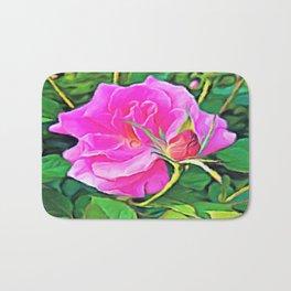 Pink Flower of Graceful Beauty Bath Mat