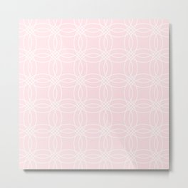 Simply Vintage Link White on Pink Flamingo Metal Print