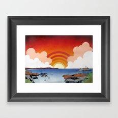 Godrevy and St. Ives Bay Framed Art Print