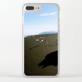 Jokulsarlon Beach, Iceland Clear iPhone Case
