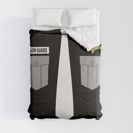 Uniform Correction Officer Police Thin Silver Line Comforters