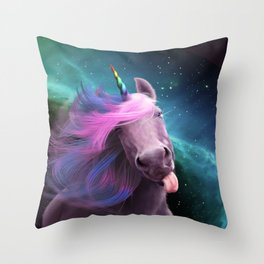Sassy Unicorn Throw Pillow