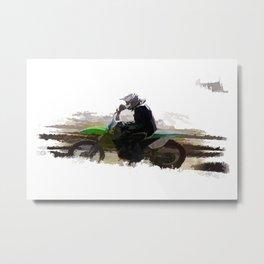 Dirt-biker - Motocross Racer Metal Print