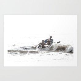 Wave riders Art Print