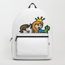 PRINCESS WITH WHITE HORSE Pony Daughter Cartoon Backpack