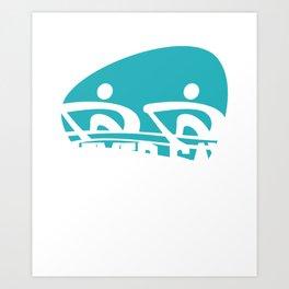 Rowing Rower Gift Canoeing Art Print