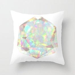 Milky White Opal Throw Pillow