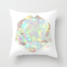 Milky White Opal Throw Pillow