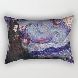 Death Night Blossom Rectangular Pillow