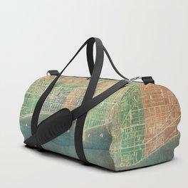 Chicago Map Duffle Bag