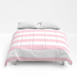 Light Soft Pastel Pink Cabana Tent Stripes Comforters
