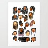 Braids and Locs Art Print
