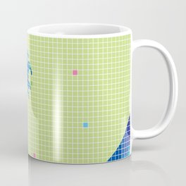 Great Wave in checked pattern_H Coffee Mug