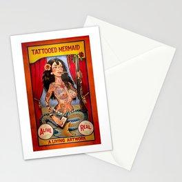 Tattooed Mermaid Stationery Cards
