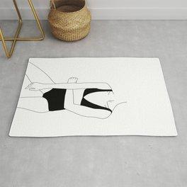 Woman in bikini line drawing - Alana Rug