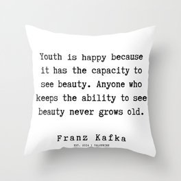 4 | Franz Kafka Quotes | 190909 Throw Pillow