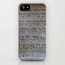 Hebrew iPhone Case